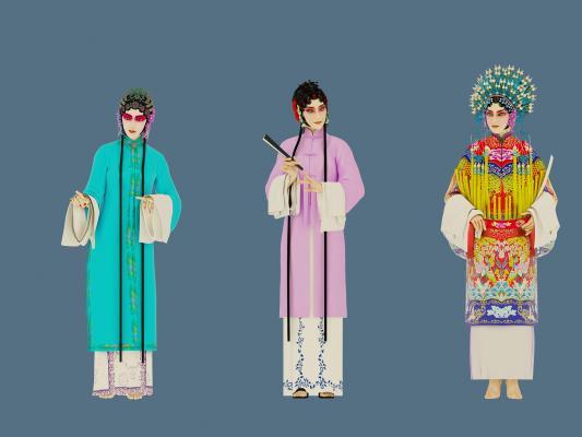 中式戏曲人物