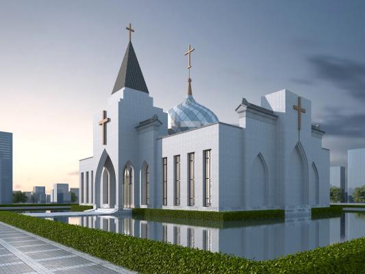 现代风格教堂外观