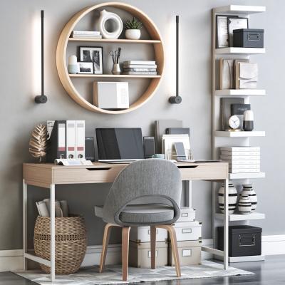 現代書桌椅 寫字臺 椅子 書架