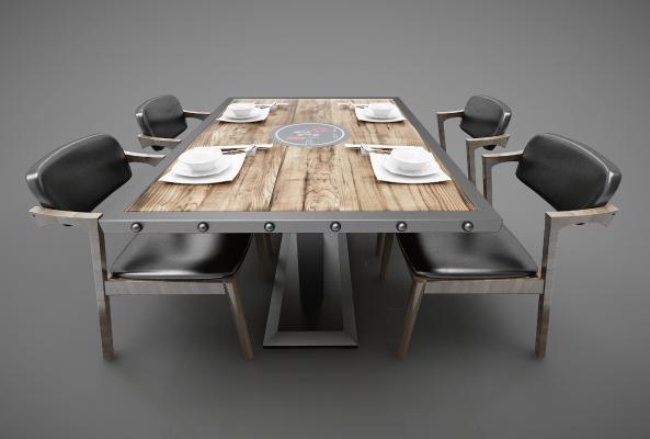 工业风格餐桌