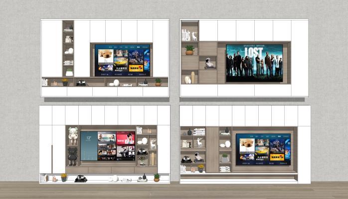 现代风格电视机 电视柜组合