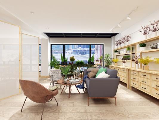 现代沙发茶几 边柜 桌椅