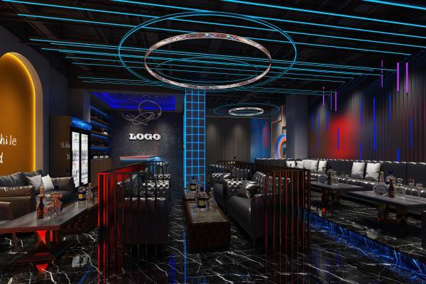 现代酒吧大厅