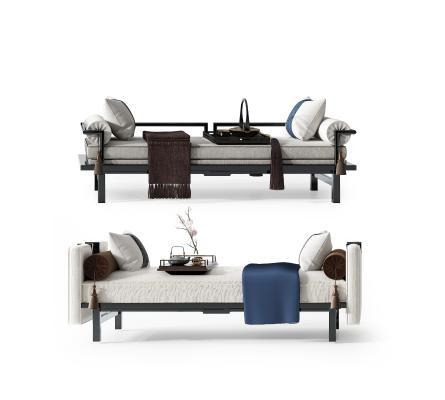新中式床尾凳 长凳 床尾踏