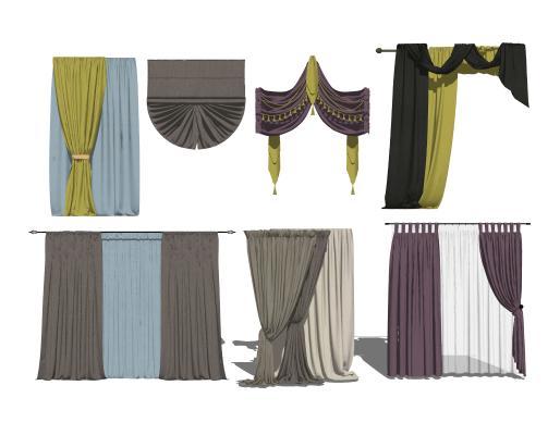 现代窗帘组合1