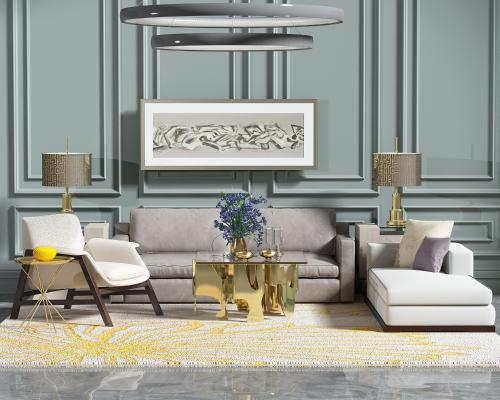 后现代沙发组合