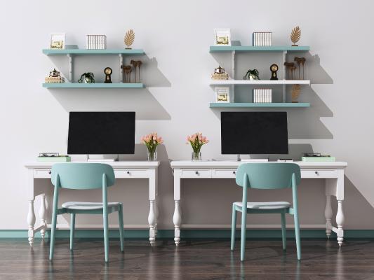 欧式电脑桌椅组合 书桌椅 写字桌