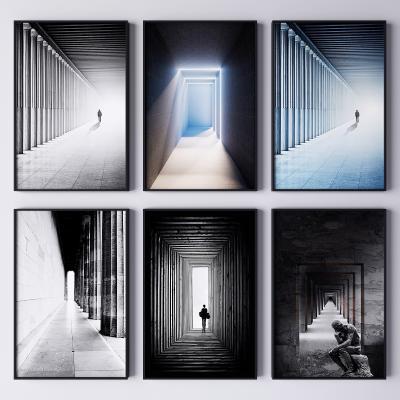 現代建筑藝術裝飾掛畫 抽象畫 藝術畫