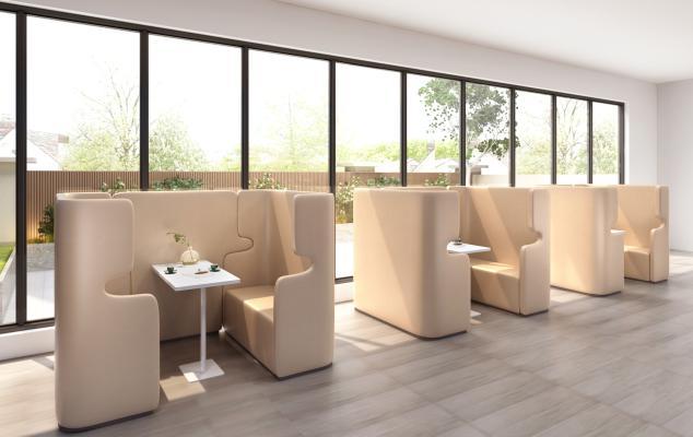 现代休闲沙发 休闲区