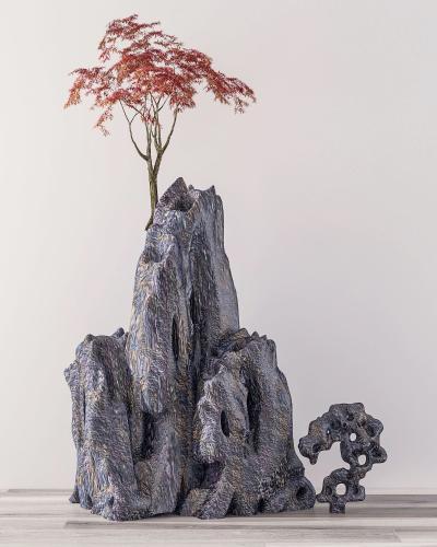 新中式假山