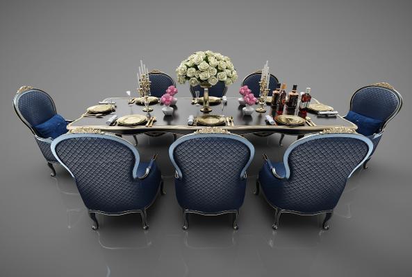 欧式风格餐桌椅