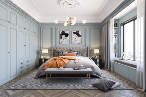 美式卧室 主人房
