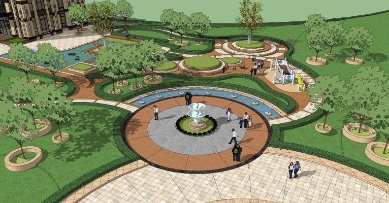 欧式公园景观 广场景观 园林小品