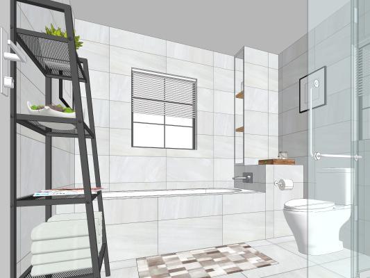 现代卫生间 卫浴 淋浴房