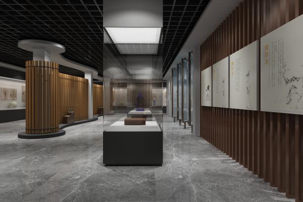 新中式风格展厅 博物馆