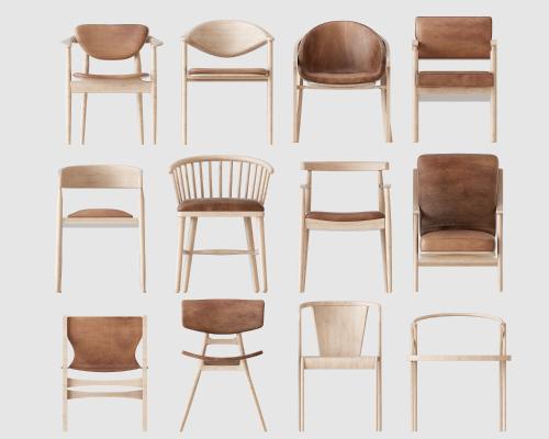 新中式单椅子组合