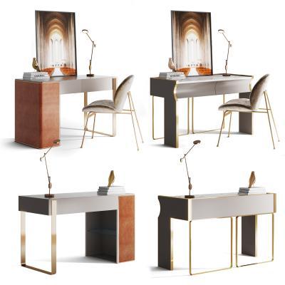 现代书桌 化妆台组合
