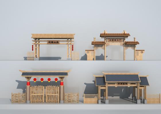 中式农家乐牌坊