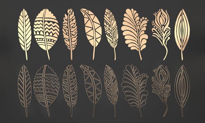 金属叶子组合