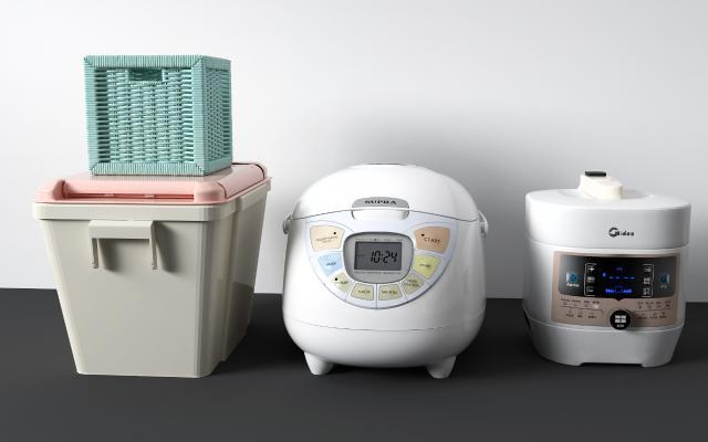 现代厨房电器 电饭煲 储物箱