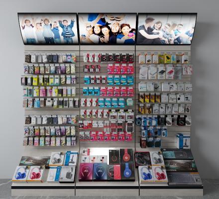 现代手机壳耳机展示柜