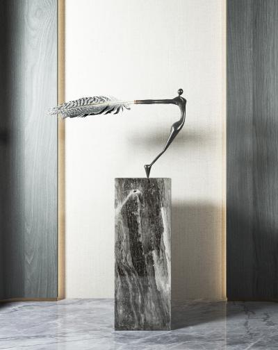 现代抽象人物雕塑 摆件