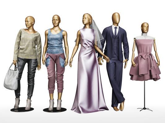 现代商展器材 模特 服装