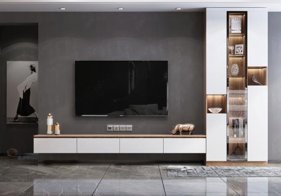现代风格电视柜 装饰品 摆件