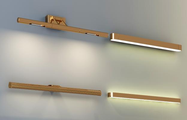 现代镜前灯壁灯组合