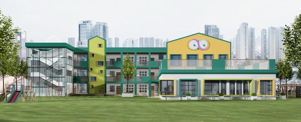 北欧幼儿园外观建筑