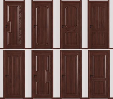 新中式实木房门 单开门 套装门