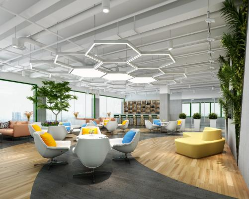现代办公室 休息区