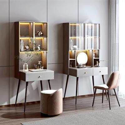 现代书桌椅组合 梳妆台 皮质凳子