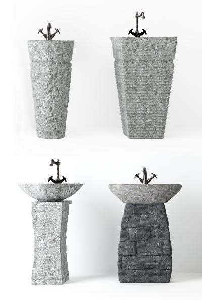 中式民宿石台洗手台盆