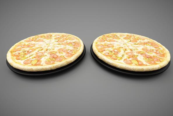 现代风格食物 披萨