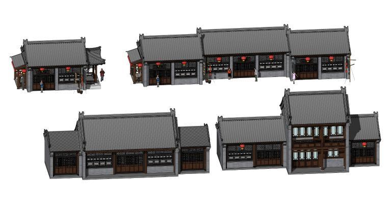 中式古建筑 商业店铺 酒馆酒楼