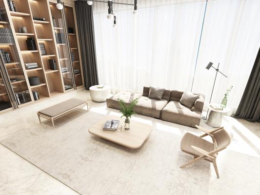 日式沙发组 书柜 电视柜