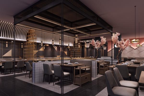现代轻奢快餐店茶餐厅