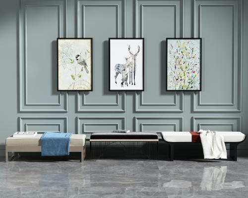 现代沙发凳 脚踏 脚凳组合