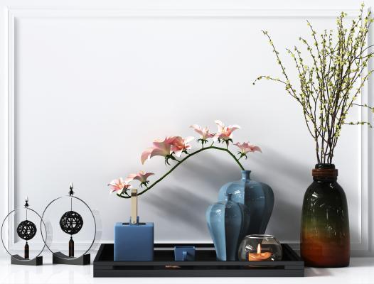 新中式摆件,新中式植物,新中式花瓶,新中式装饰品