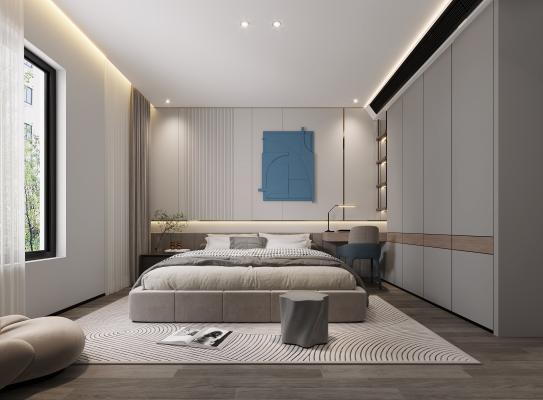现代卧室,卧室,简约卧室
