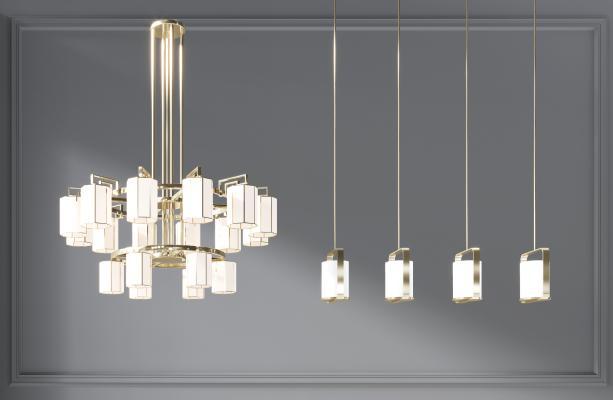新中式金属吊灯