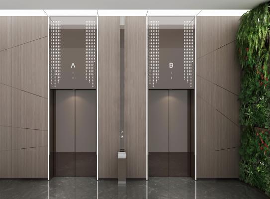 现代电梯间