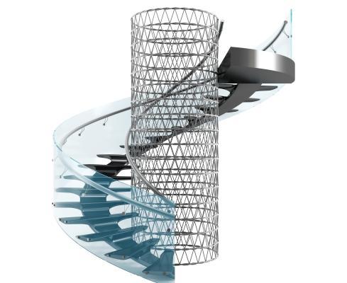 现代楼梯 步梯 旋转楼梯