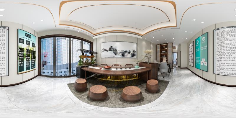 新中式大厅加茶室