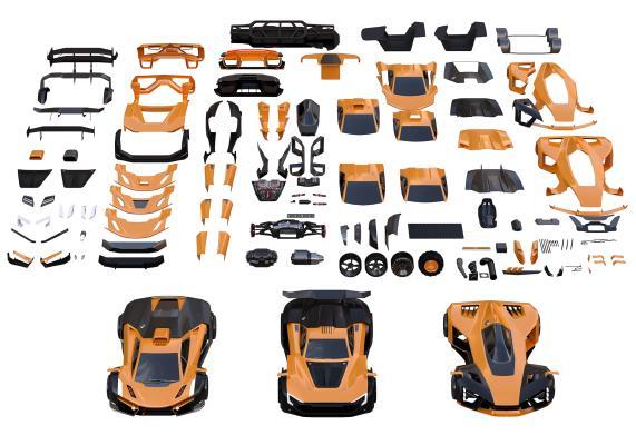 现代跑车 配件 机械零件组件