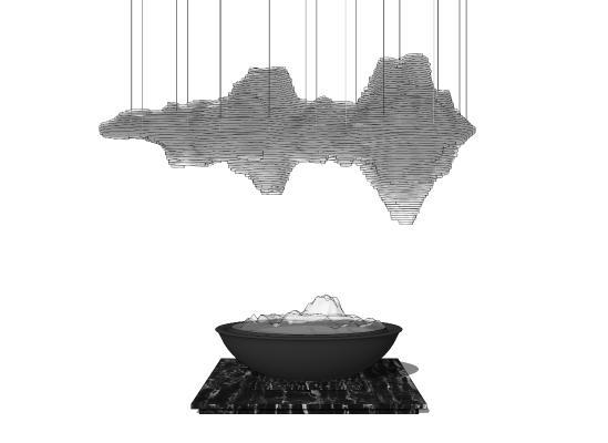 现代雕塑 吊灯