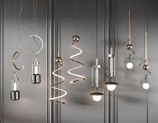 现代吊灯组合