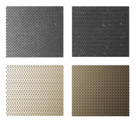 工业风钢板地面组合 钢板 地砖
