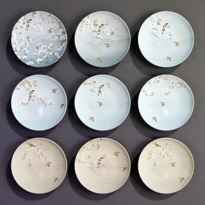 新中式花鸟盘子挂件